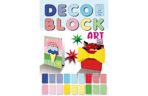 DECO BLOCK CARDBORD 24X34cm SET/18